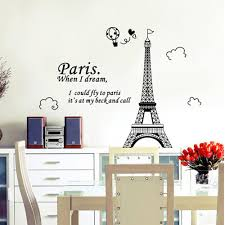 Eiffel Tower Wallpaper For Walls Eiffel Tower Wall Sticker Wall Art Decals Vinyl Wall Stickers