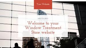 window treatment store website templates godaddy