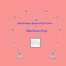cheap heart balloon arch frame heart shaped balloon arch for