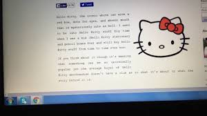 hello kitty writing paper why doesn t hello kitty have a mouth youtube why doesn t hello kitty have a mouth