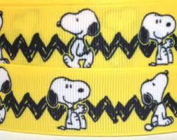 snoopy ribbon 1 brown ribbon peanuts ribbon snoopy ribbon