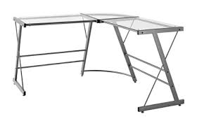 Ameriwood Home Glass L Shaped Computer Desk Gray by Office Depot