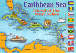 Carribbean Map Caribbean Sea Map Postcard A Photo On Flickriver