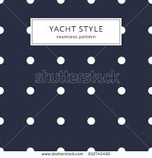 navy blue wrapping paper navy blue polka dot pattern yacht stock vector 693385261