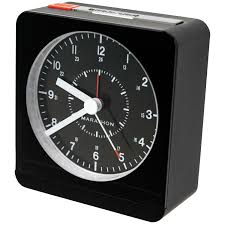 marathon analog desk alarm clock with auto night light cl030053bk