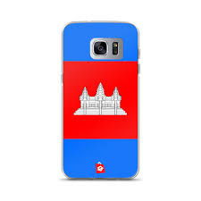 Cambodia Flag Samsung Galaxy Phone Cases Cambodia Khmer Flag Full Horizontal