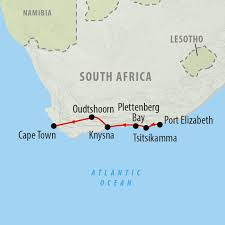 Port Elizabeth South Africa Map by Garden Route 6 Day Self Drive Holiday On The Go Tours Au