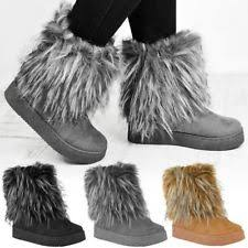 womens fur boots uk lacoste womens moonball winter boots zip ankle flat heel
