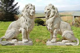 marble lions for sale outdoor big lion statues pair for front porch marble bronze lion