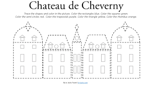 chateau de cheverny coloring page free printable jo jacks travel