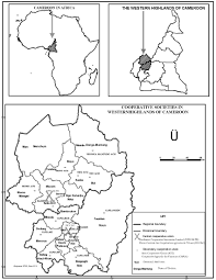 Map Of Cameroon Cooperative Movements In The Western Highlands Of Cameroon