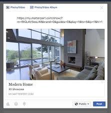 share a matterport space to facebook u2013 matterport help center