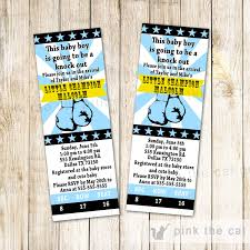 baby shower sports invitations boxing baby shower boxing invitation ticket sporty blue gold