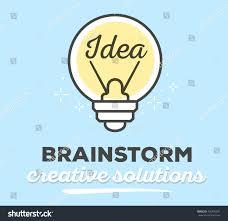 vector illustration creative light bulb text stock vector