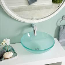 blue glass vessel sink bathroom awesome vessel sinks lowes awesome vessel sinks lowes bowl