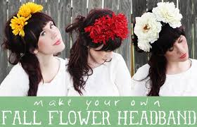 flower hairband floral headband d i y project a beautiful mess