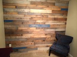 wood wall projects client wall of pallet wood nicely sanded and partially painted