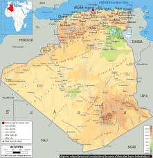 Map Of The Mediterranean Map Of Algeria Travel