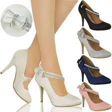 wedding shoes ebay womens bridal wedding prom party high heel classic pumps