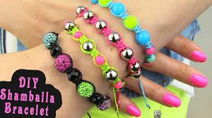 diy shamballa bracelet how to make macrame bracelets youtube