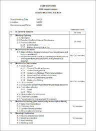 governance meeting agenda template cover letter format with email