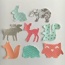 iron on appliques woodland animals theme for baby shower