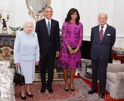 michelle obama meets queen elizabeth ii in oscar de la renta tom