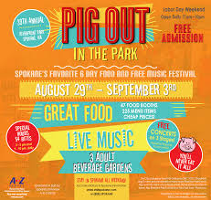 spokane pig out in the park 2018 a food and festival