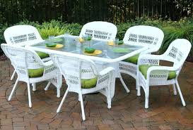 High Top Patio Dining Set White Wicker Dining Table And Chairs White Wicker Furniture Dining