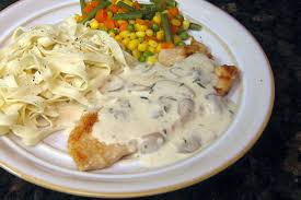mushroom gravy its not easy turkey cutlets with creamy mushroom u0026 wine sauce recipe