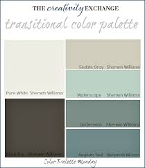 what colors go well with gray transitional paint color palette color palette monday 3