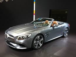 convertible mercedes 2015 2017 mercedes benz sl gets svelte new look nine speed gearbox video