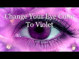 purple eye color change your eye color to violet subliminal youtube