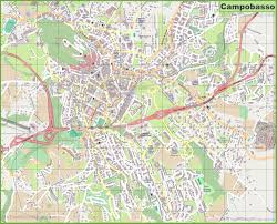 Ou Map Large Detailed Map Of Campobasso