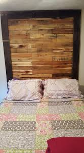 wood pallet headboard organization for small rooms nickel flat