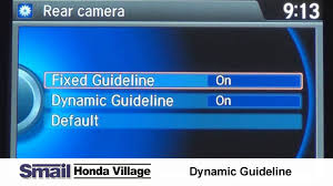 using the dynamic guideline with your honda back up camera youtube