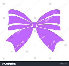Purple Color Gift Bows Ribbons Purple Color On Stock Vector 390032713