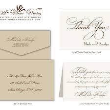 wedding thank you card wording card design ideas