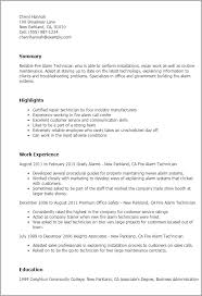 Process Technician Resume Sample by Professional Fire Alarm Technician Templates To Showcase Your