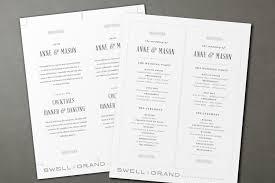 tea length wedding programs printable wedding program template instant rustic