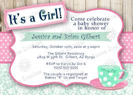 tea party baby shower invitations kustom kreations