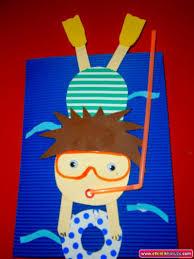 scuba diver craft for kids u0027s out for summer pinterest