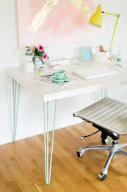 Diy Sawhorse Desk by Pieds Metalliques Hairpin 11 Hairpin Legs Ana White And Desks