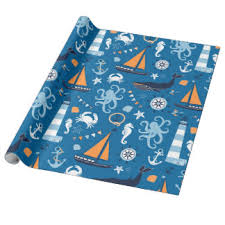nautical wrapping paper crabs wrapping paper zazzle co uk