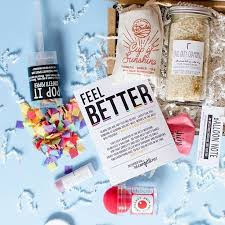 feel better care package 214 best party in a box images on confetti care