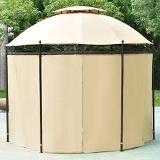 Tent Awning 10 Ft Round Outdoor Awning Canopy Tent Canopies U0026 Gazebos