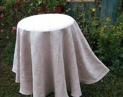 Round Kitchen Table Cloth by Round Linen Tablecloth Burlap Gray Wrinkled Wedding Table