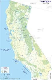 map of california counties buy california river map