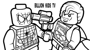 lego spiderman vs lego superman coloring book coloring pages kids