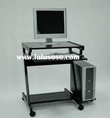 Glass Top Computer Desks For Home Metal Computer Desk Metal Frame Glass Top Computer Desk Modern